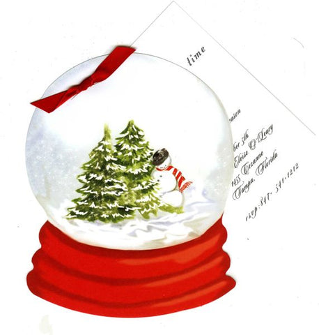 Snow Globe Personalized Holiday Card/ Invitation (Set of 50)