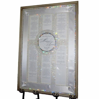 Rectangular Shadowbox Crystal Seating Chart Rental