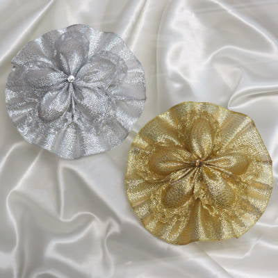 CRF Cuore Metallic Crystal with Ruffle