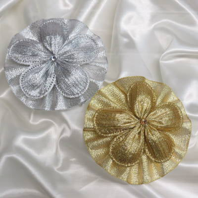 CRF Margherita Plisse Metallic Crystal with Ruffle