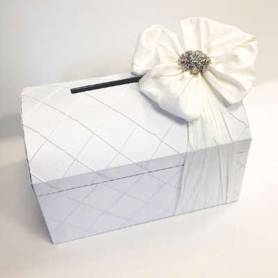 Dalmazio Design Treasure Chest Envelope Box White