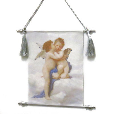 Dalmazio Design Canvas Keepsake Scroll - Kissing Angels