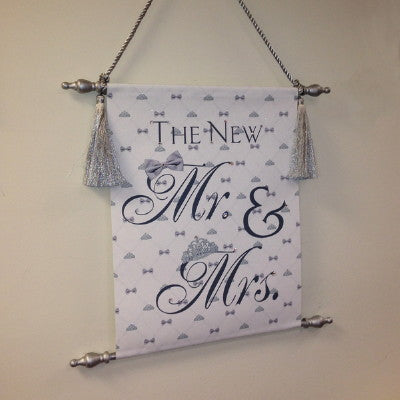 "Canvas Keepsake Scroll - ""The New Mr. & Mrs."""