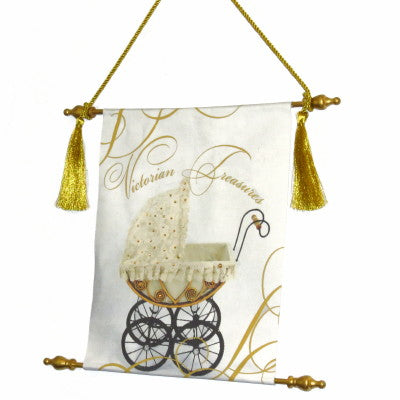 Dalmazio Design Canvas Keepsake Scroll - Victorian Treasures Carriage