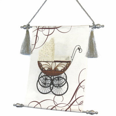 Canvas Keepsake Scroll - Victorian Carriage