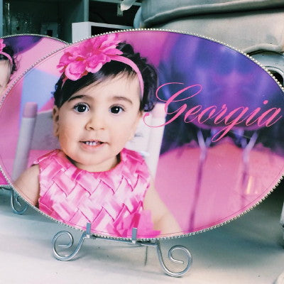 Dalmazio Design Keepsake Plaque - Custom Baby Photo & Personalization