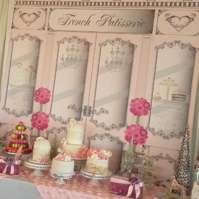 Dalmazio Design Backdrop - French Patisserie Rental