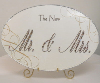 Dalmazio Design Keepsake Plaque - The New Mr(s). & Mr(s). w/ Flourishes