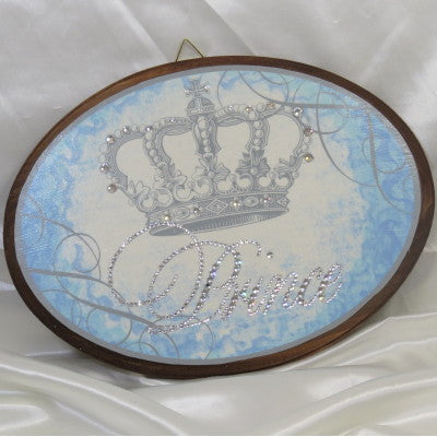 Keepsake Wooden Plaque - Crystallized Prince 8x11""