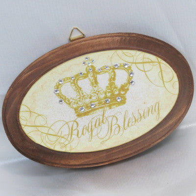 Keepsake Wooden Plaque - Royal Blessing 3x4""