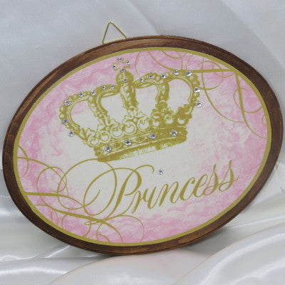 Keepsake Wooden Plaque - Princess 7x9""