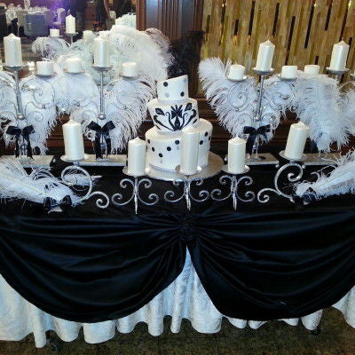 Dalmazio Design Sweet 16 Candelabra - Classical Feather