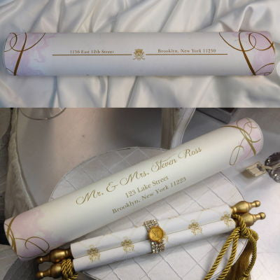 Tela Di Scorrimento Invitation Large Mailing Tube