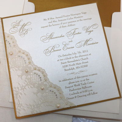 Angolo Di Pizzo Invitation with Full Embellishment