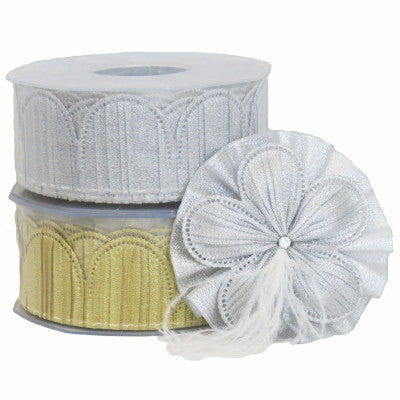 Confetti Ribbon Margherita Plisse Metallic