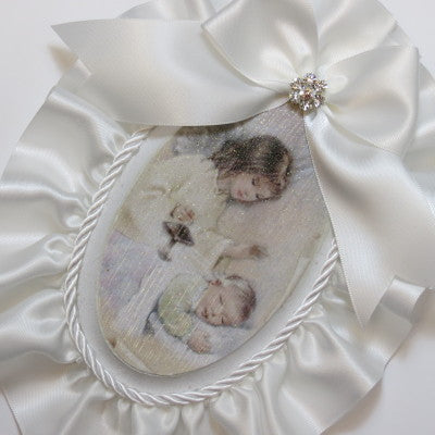Keepsake Wooden Plaque- Capezzale Guardian Angel Off-White