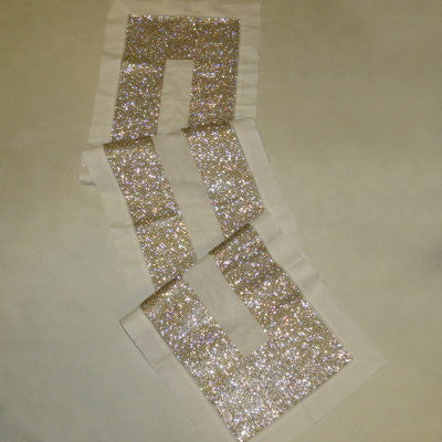 Dalmazio Design Crystallized Linen Runner - Gold/White