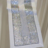 Dalmazio Design Crystallized Linen Runner - Silver/White