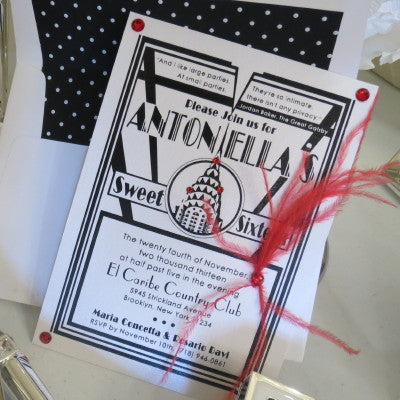 Dalmazio Design Art Deco Invitation with Full Embellishment