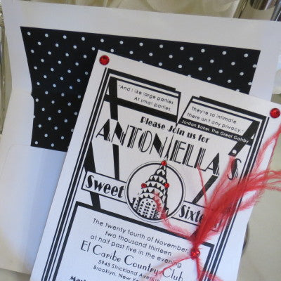 Art Deco Invitation Envelope Liner