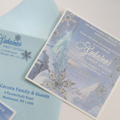 Dalmazio Design Castello di Ghiaccio Invitation with Full Embellishment