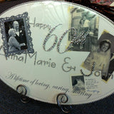 Keepsake Plaque - Custom Anniversary w/ Pictures Clear Full Crystallized