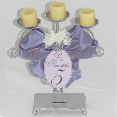 Rhinestone Scroll Candle Holder Centerpiece