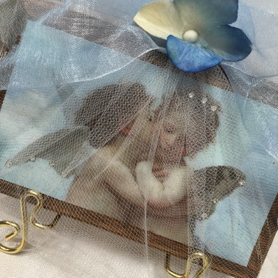 Keepsake Wooden Plaque- Il Baccio Crystallized and Packaged 3x5