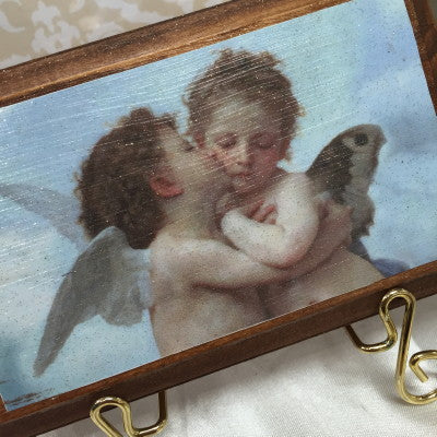 Dalmazio Design Keepsake Wooden Plaque- Il Baccio 3x5""