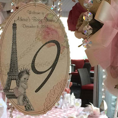 Dalmazio Design Parison Prince Baby Hanging Tree Number Sign