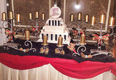 Sweet 16 Candelabra Bows