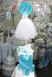 Giftbox Centerpiece Tiffany Bride