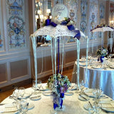 Lace Umbrella, Ceramic Planter and Glittered Rose Centerpiece