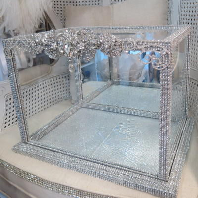 Dalmazio Design Crystal Adorned Mirrored Envelope Box