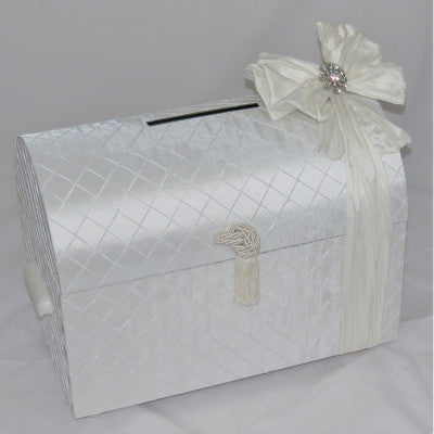 Dalmazio Design Treasure Chest with Handle Envelope Box White