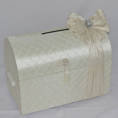 Dalmazio Design Treasure Chest with Handle Envelope Box Ivory