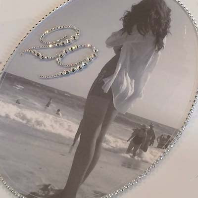 Dalmazio Design Keepsake Swarovski Plaque - Custom Photo Full & Personalization