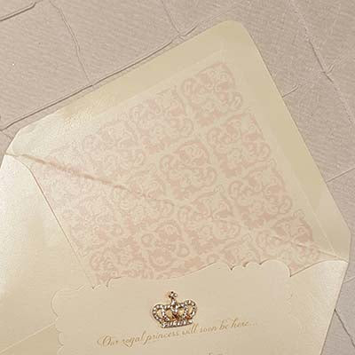 Corona Reale Invitation Envelope Liner