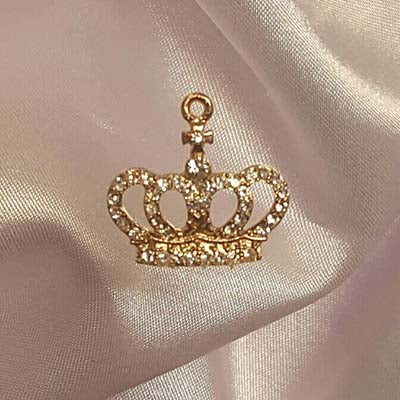 Small Rhinestone Crown Accent