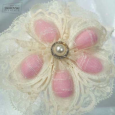 CRF Ariel Pearl + Rhinestone Accent with Lace Ruffle