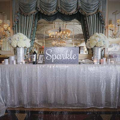 Dalmazio Design Sequin Table Cloth Rental