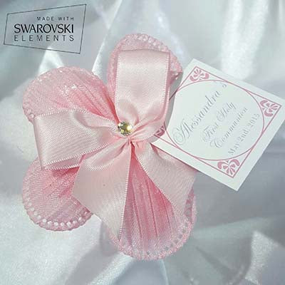 CRF Margherita Plisse Crystal with Bow + Personalized Card