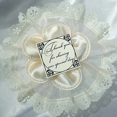 CRF Margherita Satin with Personalized Thank You Card