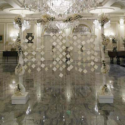 Dalmazio Design Crystal Wall Seating Chart Rental