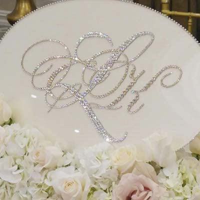 Dalmazio Design Keepsake Swarovski Plaque - Monogram with Personalization