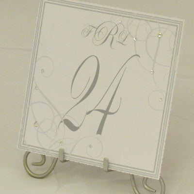 Dalmazio Design Table Sign w/ Easel - One Layer Swarovski Splash/Personalized