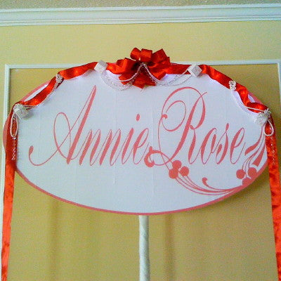 Dalmazio Design Banner Sign - Oval Shape, Large Name w/ Personalization