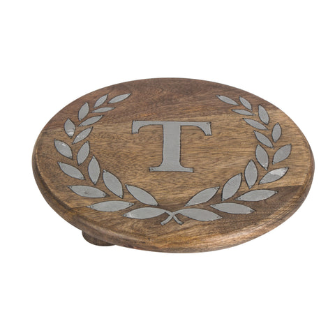 GG Collection Trivet W/Letter T Dalmazio Design