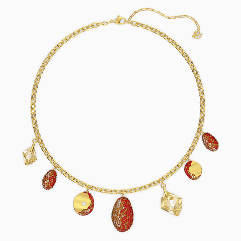 Dalmazio Design - Swarovski The Elements Necklace, Red, Mixed Metal Finish