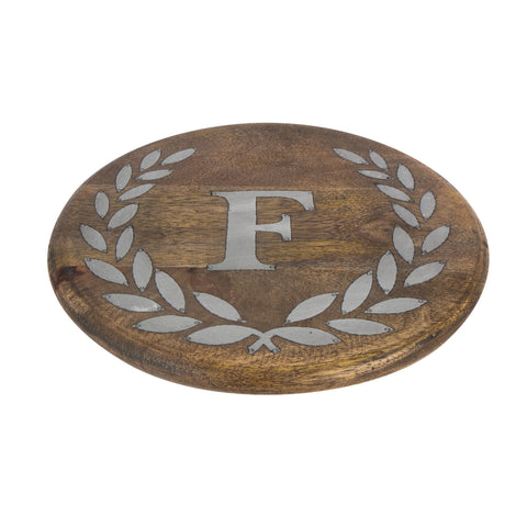 GG Collection Trivet W/Letter F Dalmazio Design